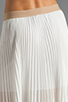 Image 6 of BCBGMAXAZRIA Pleated Maxi Skirt in White