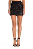 Image 1 of BCBGMAXAZRIA Paxton Sequin Skirt in Black Combo
