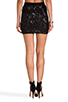 Image 3 of BCBGMAXAZRIA Paxton Sequin Skirt in Black Combo