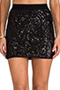 Image 4 of BCBGMAXAZRIA Paxton Sequin Skirt in Black Combo