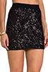 Image 5 of BCBGMAXAZRIA Paxton Sequin Skirt in Black Combo