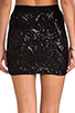 Image 6 of BCBGMAXAZRIA Paxton Sequin Skirt in Black Combo