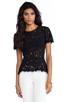 Image 1 of BCBGMAXAZRIA Evia Lace Top in Black
