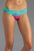 Image 1 of Beach Bunny Sugar Rush Lady Lace Bottom in Fuchsia