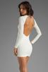 Image 1 of BEC&BRIDGE Estella Long Sleeve Backless Dress in Ivory