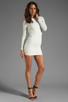 Image 2 of BEC&BRIDGE Estella Long Sleeve Backless Dress in Ivory