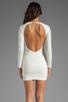 Image 4 of BEC&BRIDGE Estella Long Sleeve Backless Dress in Ivory