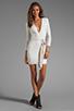 Image 2 of BEC&BRIDGE Exclusive Jaguar Long Sleeve Dress with Tie in White