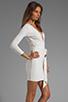 Image 3 of BEC&BRIDGE Exclusive Jaguar Long Sleeve Dress with Tie in White