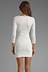 Image 4 of BEC&BRIDGE Exclusive Jaguar Long Sleeve Dress with Tie in White