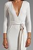 Image 5 of BEC&BRIDGE Exclusive Jaguar Long Sleeve Dress with Tie in White