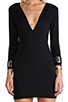 Image 5 of BEC&BRIDGE Exclusive Jaguar Long Sleeve Cuff Dress in Black