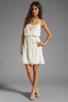 Image 2 of Beyond Vintage Silk Mixed Media Tank Dress in Gardenia