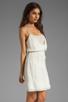 Image 3 of Beyond Vintage Silk Mixed Media Tank Dress in Gardenia