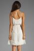 Image 4 of Beyond Vintage Silk Mixed Media Tank Dress in Gardenia