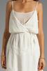 Image 5 of Beyond Vintage Silk Mixed Media Tank Dress in Gardenia
