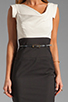 Image 5 of Black Halo Jackie O Two Tone Dress in Eggshell/Black