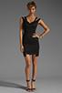 Image 2 of Black Halo Analisa Mini Dress in Black