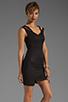 Image 3 of Black Halo Analisa Mini Dress in Black