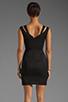 Image 4 of Black Halo Analisa Mini Dress in Black