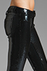 Image 5 of BLANKNYC 5 Pocket Sequin Spray On Skinny in Black
