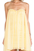 Image 5 of BLAQUE LABEL Strapless Mini Dress in Lemon