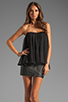 Image 1 of BLAQUE LABEL Strapless Ruffle Top in Black