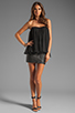 Image 2 of BLAQUE LABEL Strapless Ruffle Top in Black