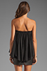 Image 3 of BLAQUE LABEL Strapless Ruffle Top in Black
