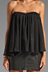 Image 4 of BLAQUE LABEL Strapless Ruffle Top in Black