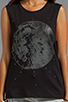 Image 4 of bless'ed are the meek Moon Tank in Black