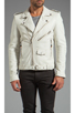 Image 1 of BLK DNM Leather Jacket 5 in Smoke White