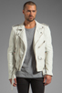 Image 2 of BLK DNM Leather Jacket 5 in Smoke White