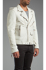 Image 3 of BLK DNM Leather Jacket 5 in Smoke White