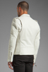 Image 4 of BLK DNM Leather Jacket 5 in Smoke White