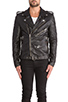 Image 2 of BLK DNM Leather Jacket 5 in Black