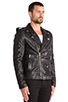 Image 3 of BLK DNM Leather Jacket 5 in Black