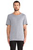 Image 1 of BLK DNM T-Shirt 3 in Light Grey Melange
