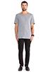 Image 4 of BLK DNM T-Shirt 3 in Light Grey Melange