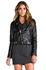 Image 2 of BLK DNM Leather Jacket 1 in Black
