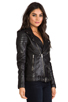 Image 3 of BLK DNM Leather Jacket 8 in Black
