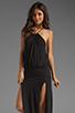 Image 1 of Blue Life Two Slit Halter Dress in Black