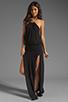 Image 2 of Blue Life Two Slit Halter Dress in Black