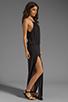 Image 3 of Blue Life Two Slit Halter Dress in Black