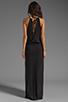 Image 4 of Blue Life Two Slit Halter Dress in Black
