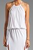 Image 5 of Blue Life Two Slit Halter Dress in White