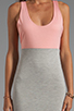 Image 5 of Blue Life Racer Back Dress in Heather/Apricot