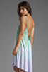 Image 1 of Blue Life Tie Dye V Neck Babydoll Dress in Mint/Ocean Breeze