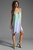 Image 2 of Blue Life Tie Dye V Neck Babydoll Dress in Mint/Ocean Breeze