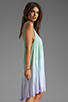 Image 3 of Blue Life Tie Dye V Neck Babydoll Dress in Mint/Ocean Breeze